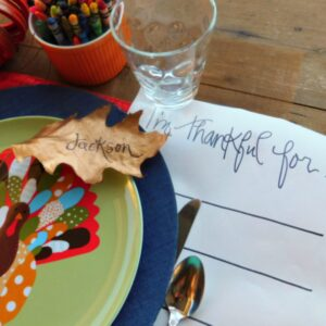 Kids' Table Thanksgiving