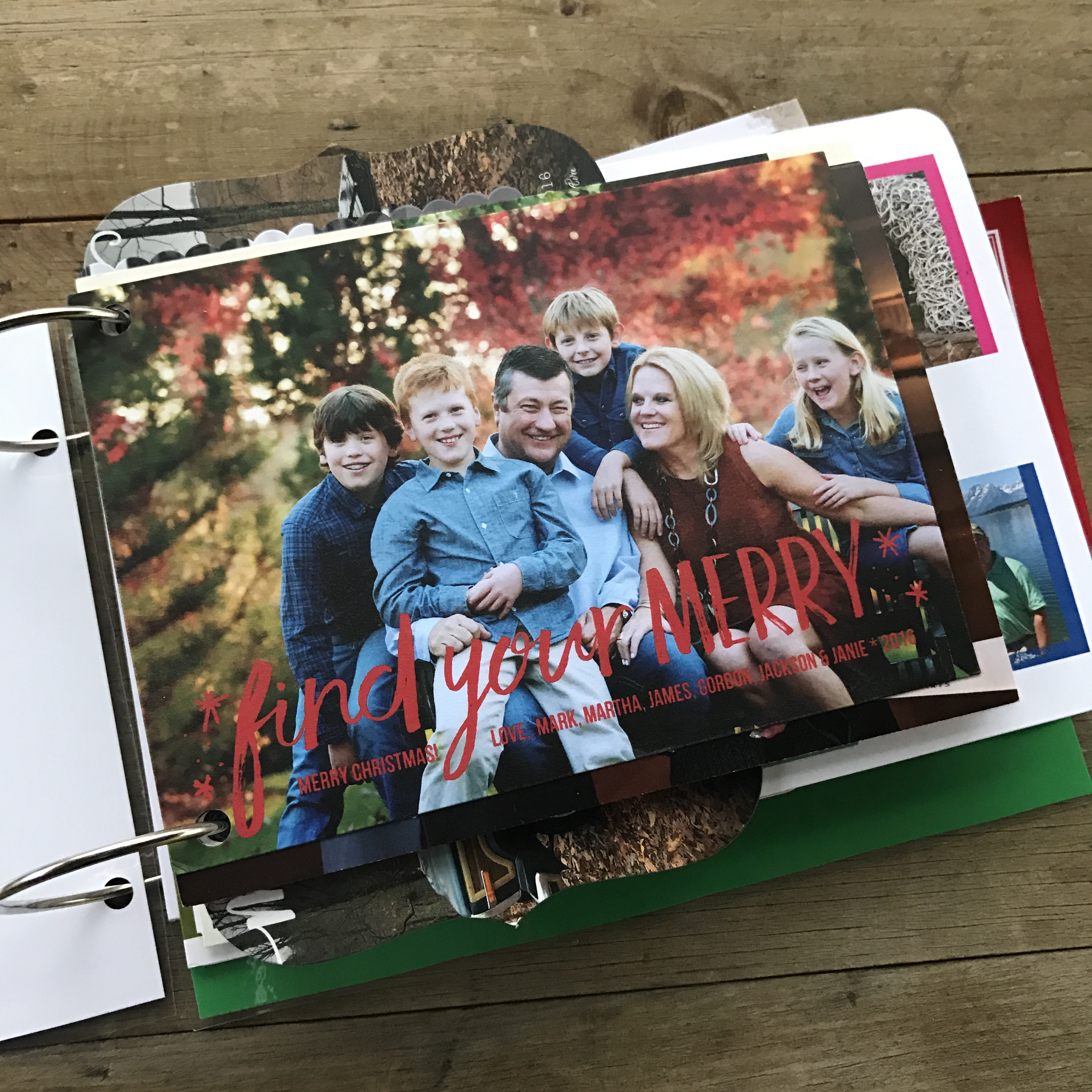 Christmas Card Scrapbook